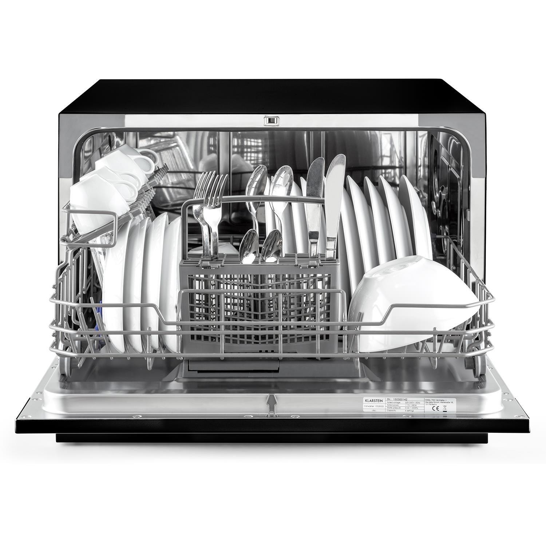 Klarstein Amazonia 6 Nera - Lavavajillas empotrable , 6 modos de funcionamiento , Programa estándar: 120 min , Función Aquastop , Silencioso: 49 dB , ...