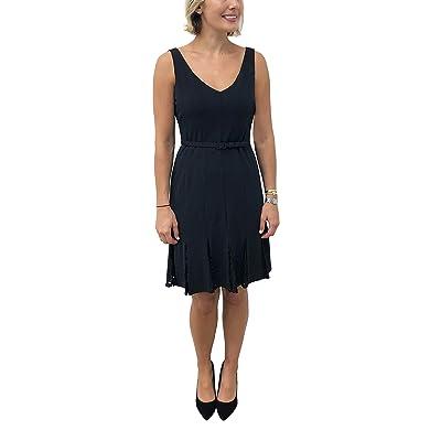 Julia Jordan Women's Sleeveless Lace Pleated Dress with Belt: Clothing