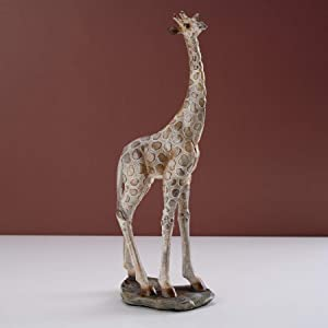 "Mosaic Giraffe Statue, YINASI 13.7"" Tall Standing Giraffe On Rock Statue Long Neck Animal Figurine Decor Desktop Office Decoration Ornaments Porch Living Room Wedding Gifts (13.7"")"