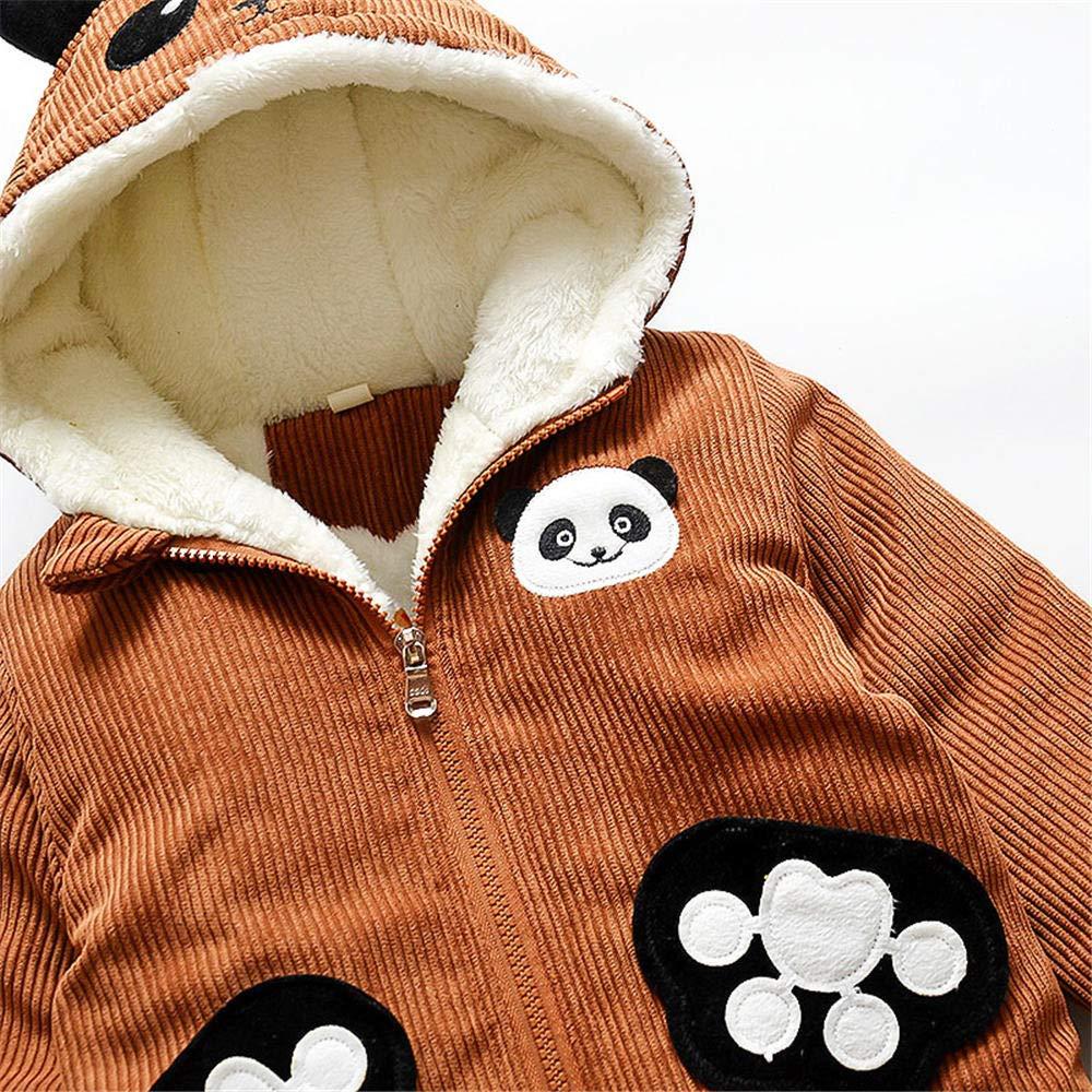 Dingji Toddler Baby Boy Girl Winter Warm Clothes Coat CuteCartoon Long Sleeve Hoodie