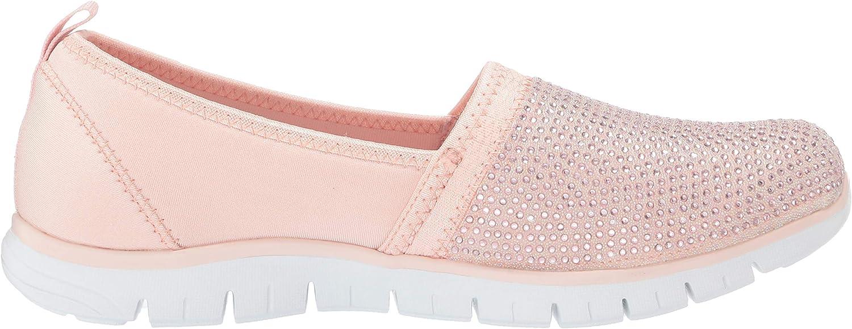 Skechers Damen Ez Flex Renew-Shimmer Show Slip On Sneaker Pink Rose Gold Rsgd