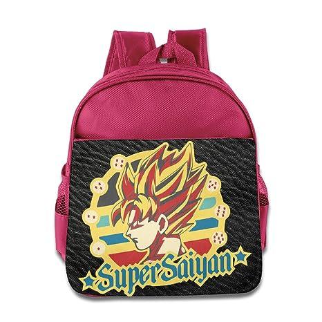 Dragon Ball Z Son Goku 2 Kids Alta Calidad Piel Sintética Azul Eléctrico Mochilas rosa rosa