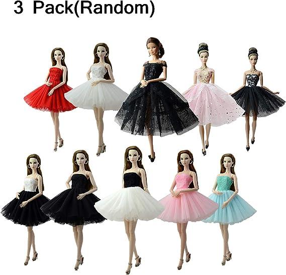 Amazon.es: Abree 3 Pack Vestido Elegante Hecho a Mano Ropa de ...
