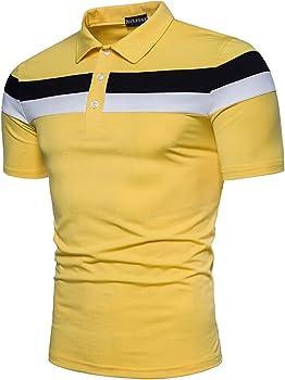 YCUEUST Moda Polos Manga Corta Hombre Camisetas Casual T-Shirt ...