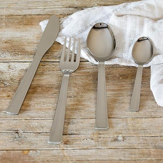 Monix Sea - Set de cubiertos 24 piezas, cubiertos de acero inoxidable sin níquel.: Amazon.es: Hogar