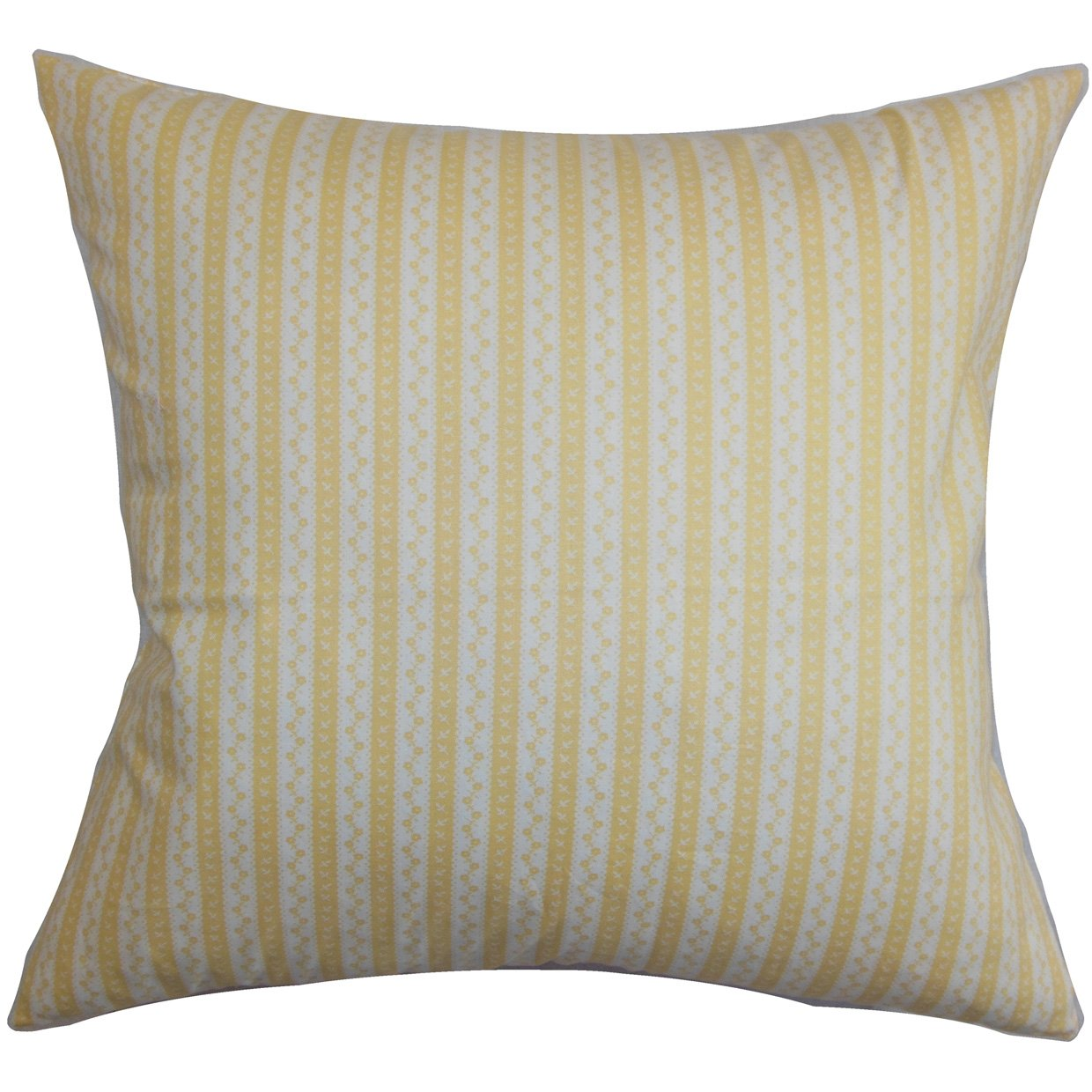 Yellow The Pillow Collection Quoba Stripes Pillow