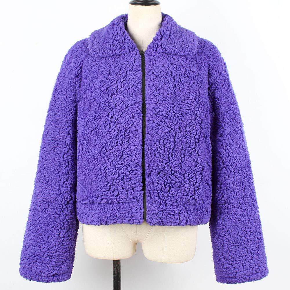 Longra Abrigo Corto Atractivo Popular Europeo, Lana Cremallera Outwear para Mujeres: Amazon.es: Ropa y accesorios