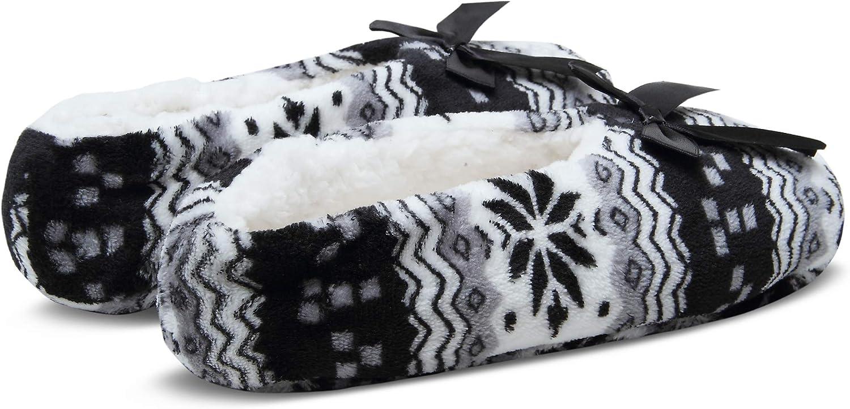 2 Pairs Womens Cozy Warm Fuzzy Slipper Socks Indoor Booties Non Slip Grippers