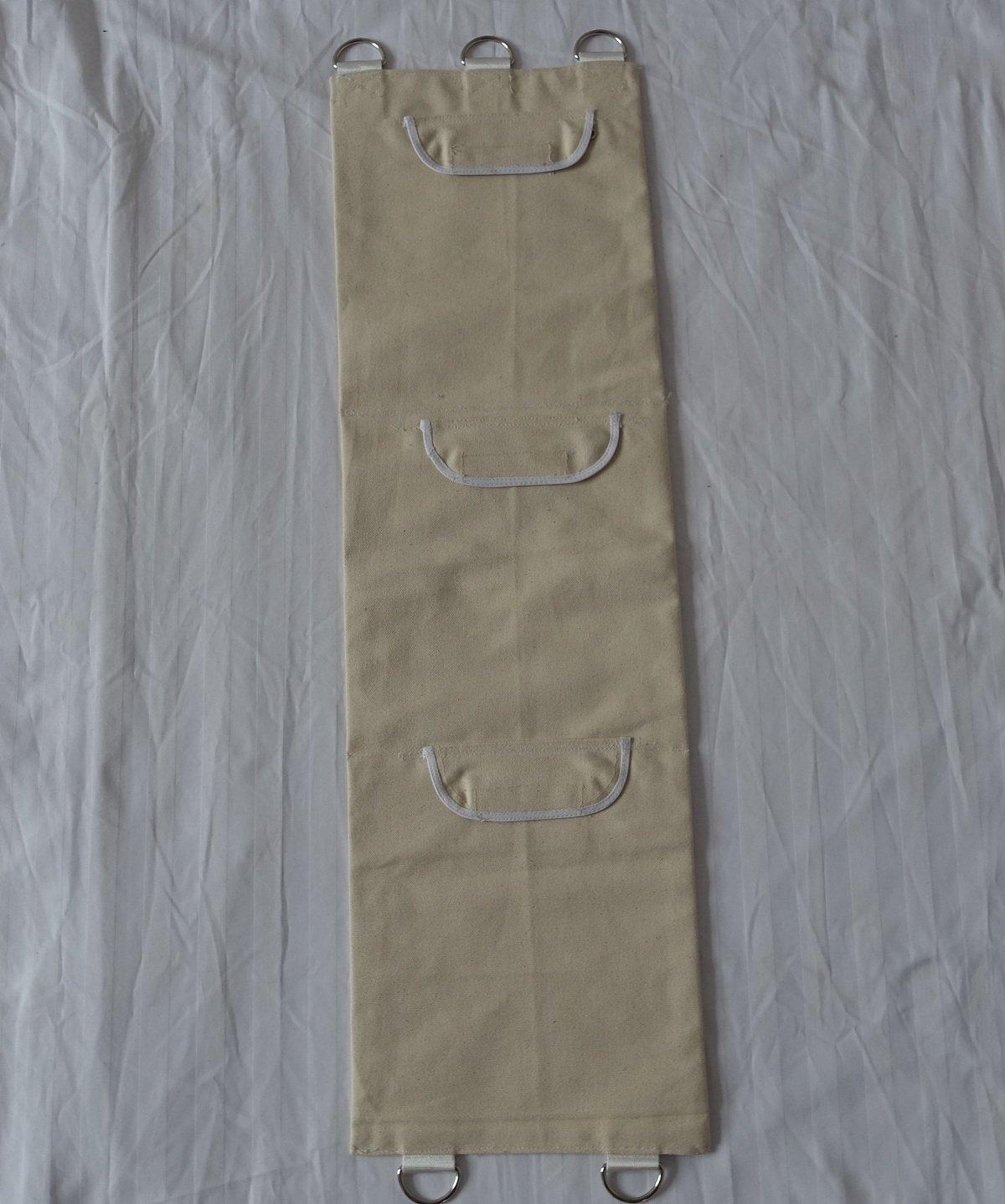 Wing Chun boxeo bolsa de pared de lona con llamativo superficie 10/Ancho x 34,5/cm de largo 3/secciones wcpu003