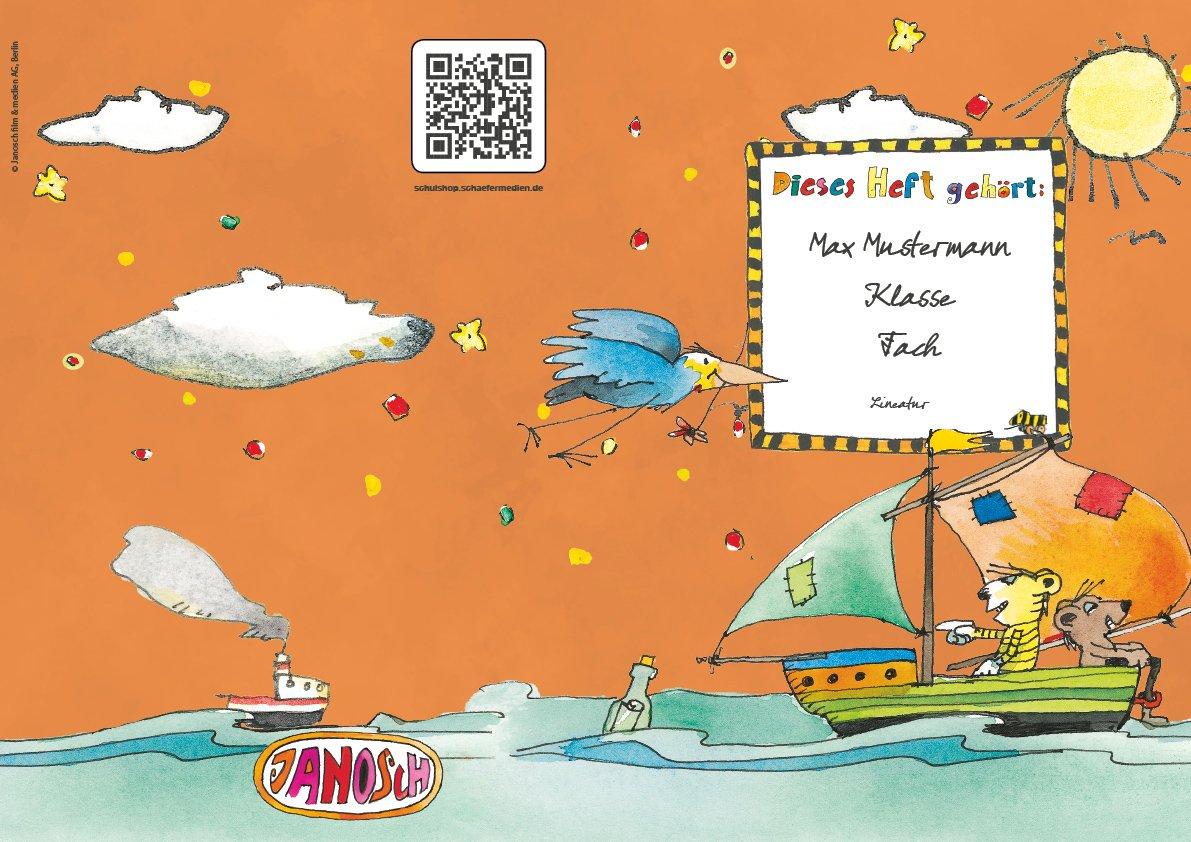 24 lustige JANOSCH-Schulhefte JANOSCH-Schulhefte JANOSCH-Schulhefte A4, »Spannende Seefahrt«, Lineatur 28, Pistaziengelb, personalisierbar, 32 Seiten B077SHD89G | Offizielle Webseite  | Sehr gute Farbe  | Kaufen Sie beruhigt und glücklich spielen  e9cf43