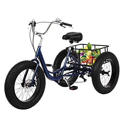 Adult Tricycle 1//7 Speed 3-Wheel For Shopping W// Installation Tools picnics New