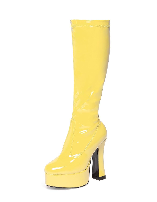 Silver Knee High Eyelet Platform Fancy Dress 60/'s 70/'s Retro Fashion Go Go Boots