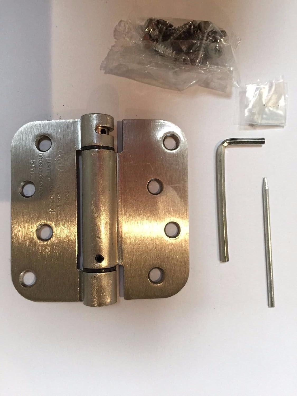 ... Spring Door Hinges New On Sale. Global Tek (Pack Of 8) Satin Nickel 4 X  4 With 5/8