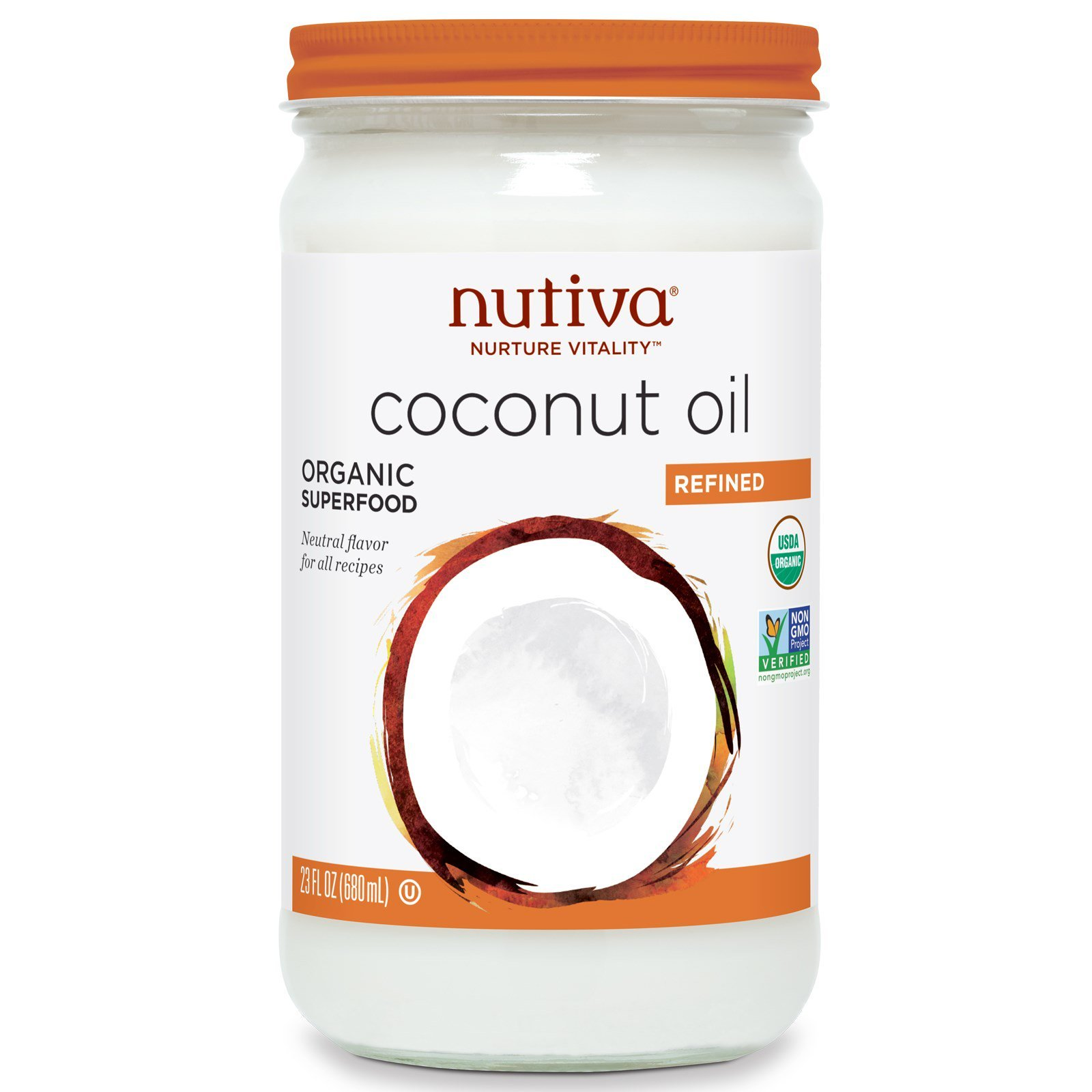 Nutiva Refined Coconut Oil, 23 Ounce