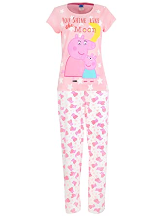 ccbe5a5784a8 Peppa Pig Womens  Mummy Pig Pajamas at Amazon Women s Clothing store