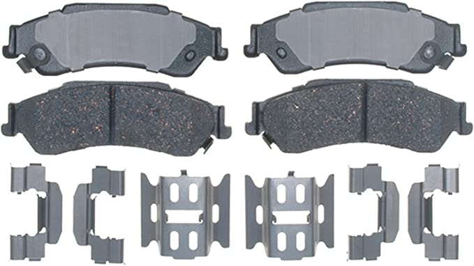 ACDelco 14D729CH Advantage Ceramic Rear Disc Brake Pad Set with Hardware