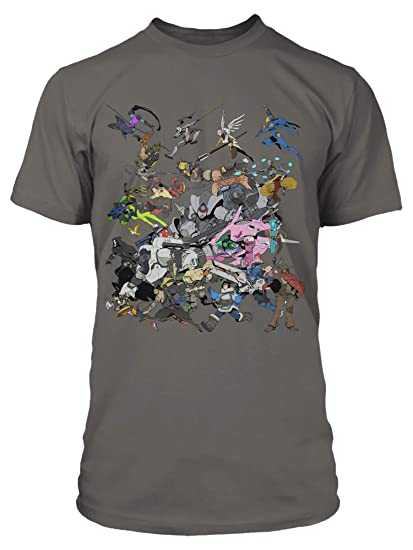 7d21f6a76 JINX Overwatch Men's Get to The Objective Tee Shirt (Charcoal, 2X-Large)