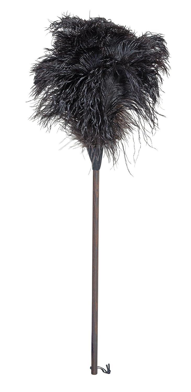 Piumino di struzzo con manico scuro e testa nera a molla, 80 cm Redecker 468880