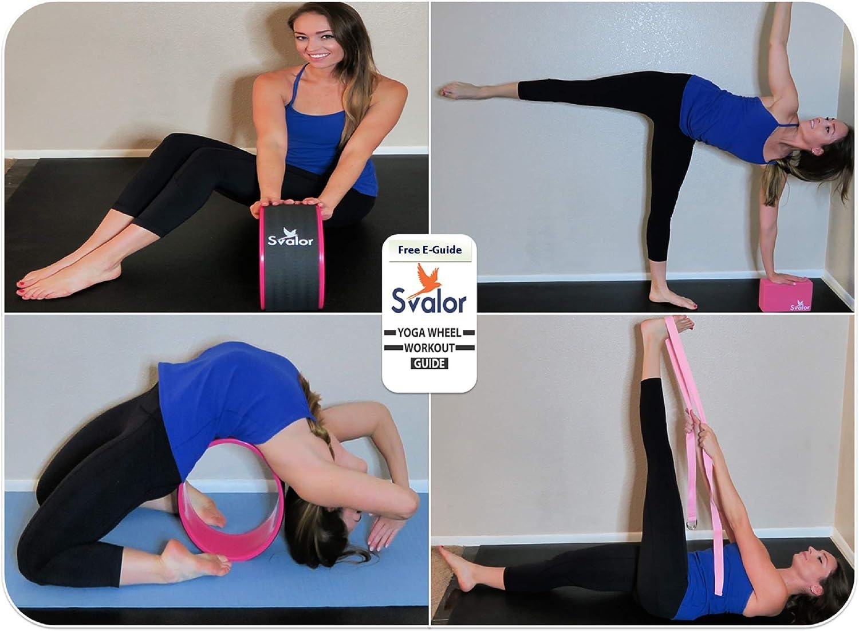 Amazon.com: Svalor - Juego de rueda, correa y bloque de yoga ...