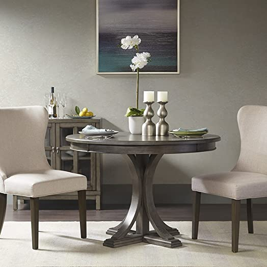 Helena Grey Round Dining Table See
