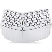 Perixx PERIBOARD-613W Mini Wireless Ergonomic Split Keyboard with Dual 2.4G and Bluetooth Mode - Compatible with Windows…