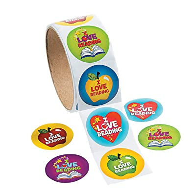 Fun Express I Love to Read Stickers - 1 Piece - Educational and Learning Activities for Kids: Toys & Games