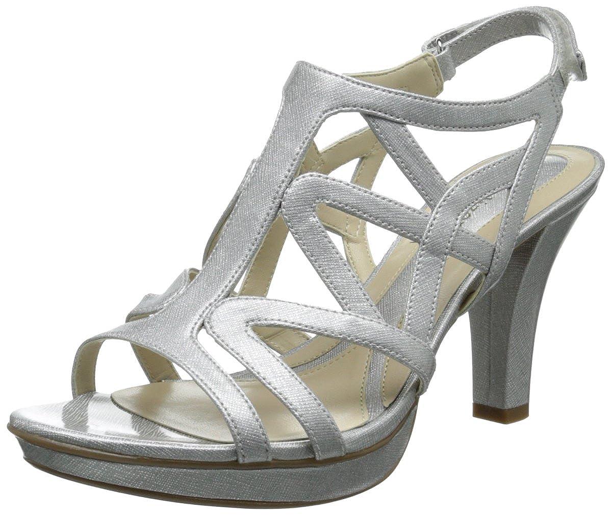Silver Crosshatch Naturalizer Women's Danya Dress Sandal