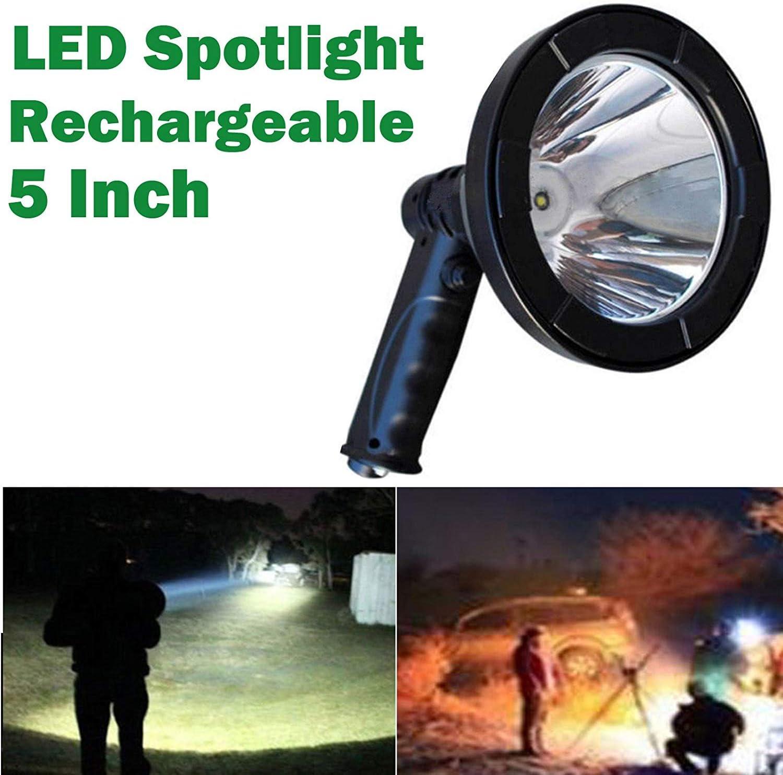 HYLH Proyector Mano LED Luz búsqueda Recargable al Aire Libre ...