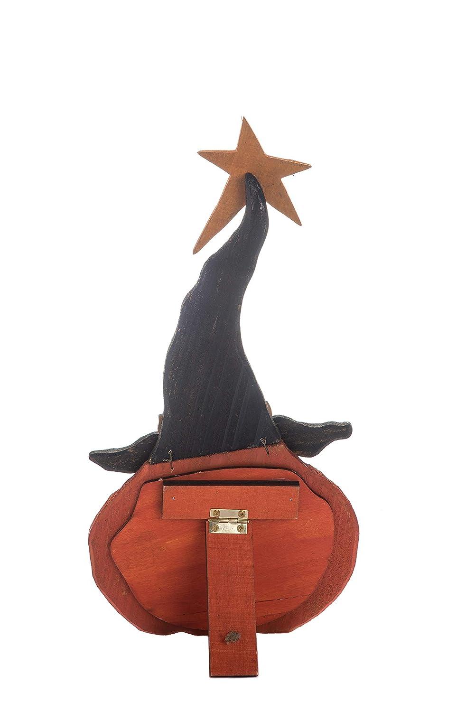 Transpac Imports D0079 Small Plywood Jack-O-Lantern Pumpkin Decor Figurine Orange