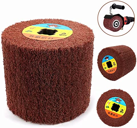 1Pc Scouring Pad Abrasive Polishing Drawing Wheel For Metal 120x100x20MM 240#