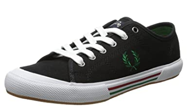 Fred Perry Vintage Tennis Canvas Black Mens Trainers B4249 102