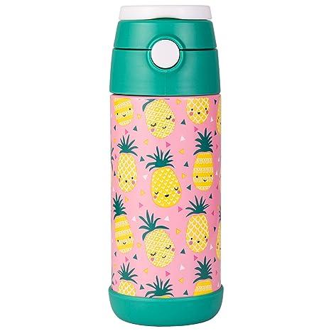 Snug - Botella de agua aislada al vacío con pajita para niños
