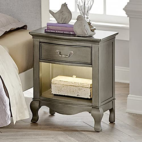 Hillsdale Furniture NE Kids Kensington Nightstand With Lights, 1 , Antique Silver,