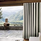 "ChadMade Outdoor Curtain Beige 100"" W x 84"" L"