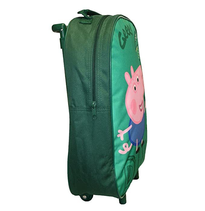 Amazon.com | George Pig Dino Premium Wheeled Bag Green 11 Litres | Carry-Ons