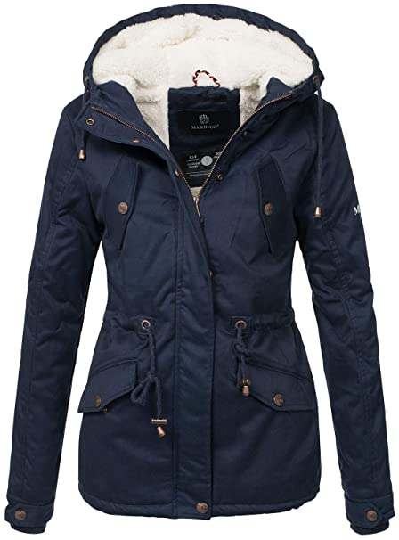 cheap for discount fc8ee 46e1d Marikoo Damen Winter Jacke Parka Winterjacke Teddyfell gefüttert B376