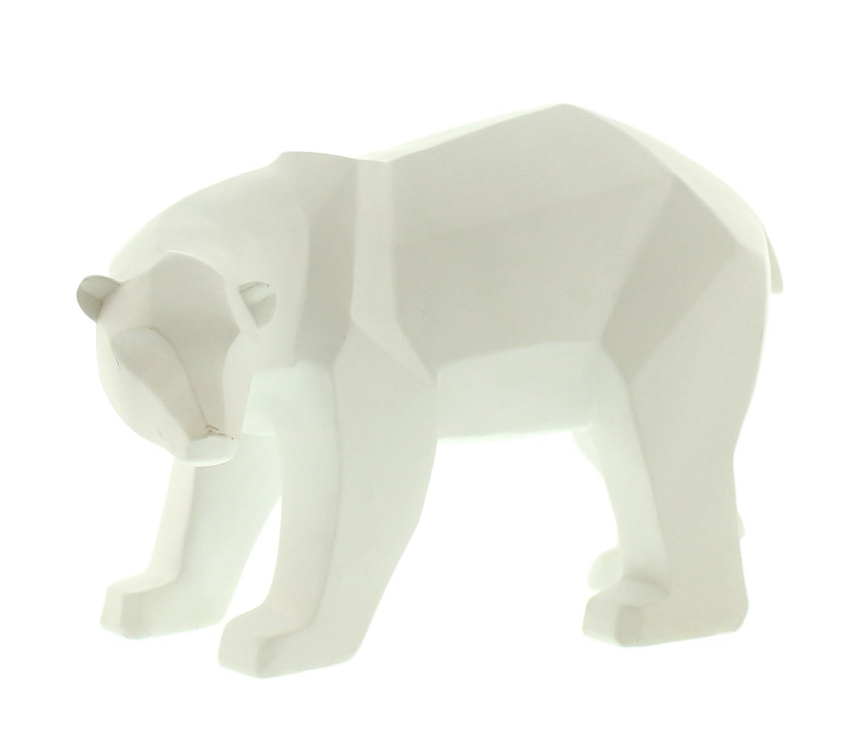 Festive Productions Geometric Polar Bear Decoration, 28 cm - White P008825