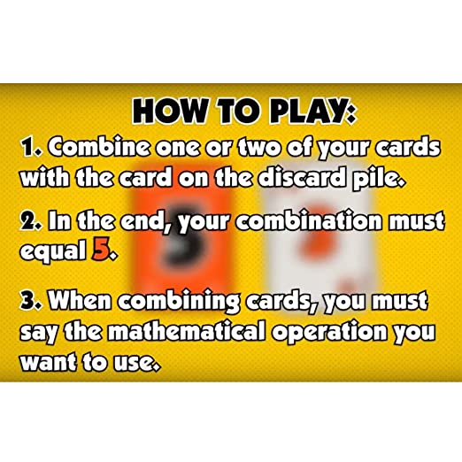 Amazon.com: SABOGAMES MISSION 5 Math Card Game: Toys & Games