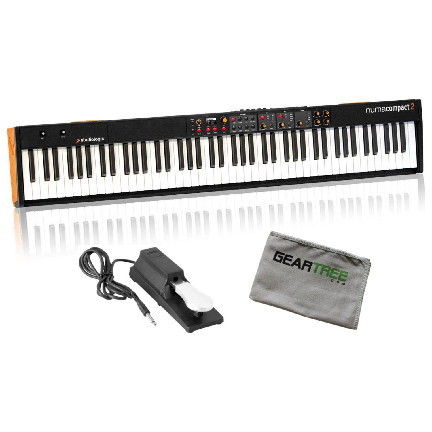 Studiologic Numa Compact 2 88 Note Semi Weighted Keyboard w/Geartree Cloth and