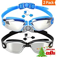 2 Pack EVERSPORT Swimming Goggles Swim Glasses UV Protection