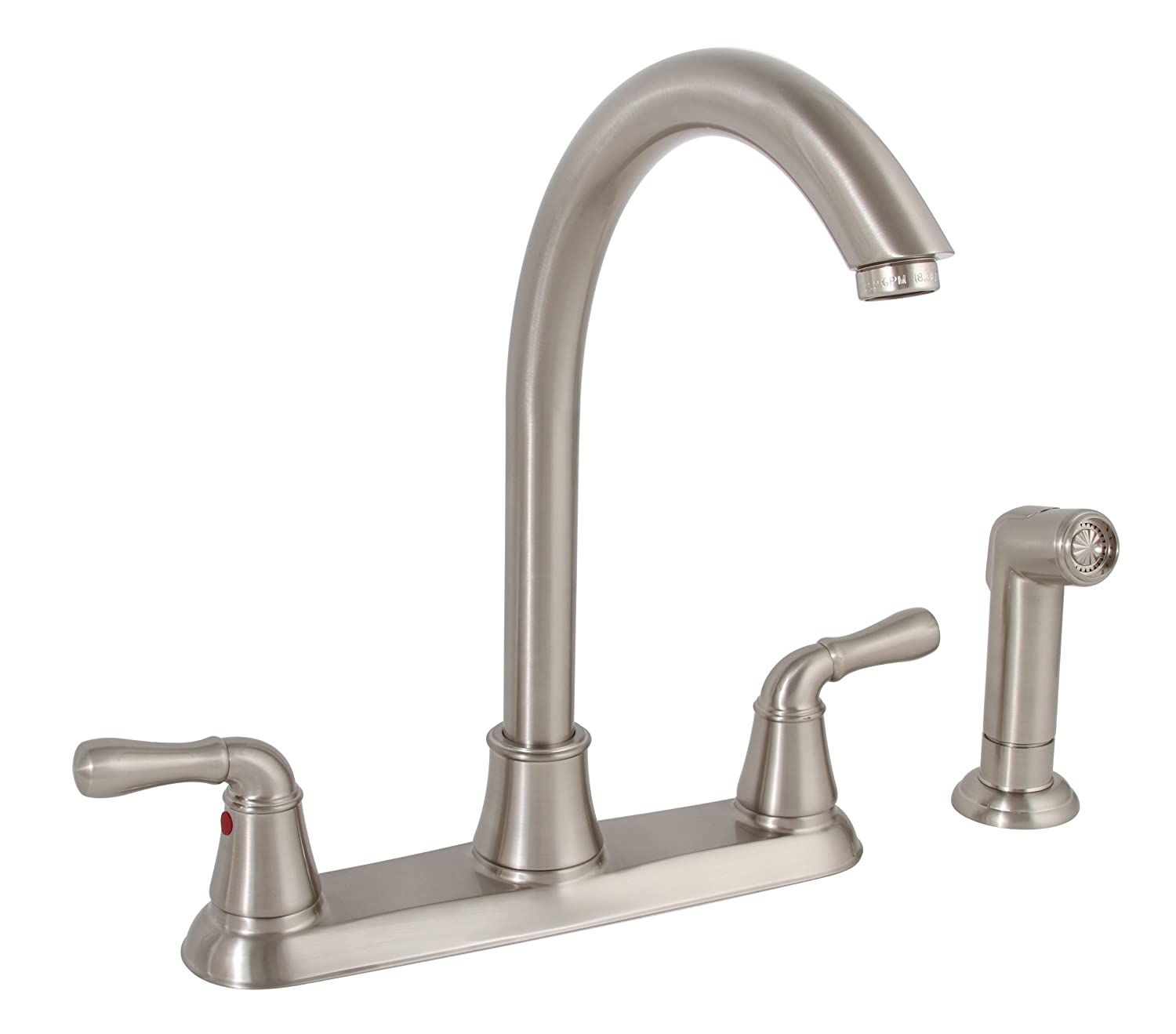Premier 120047LF Sanibel Lead-Free Two-Handle Kitchen Faucet with ...