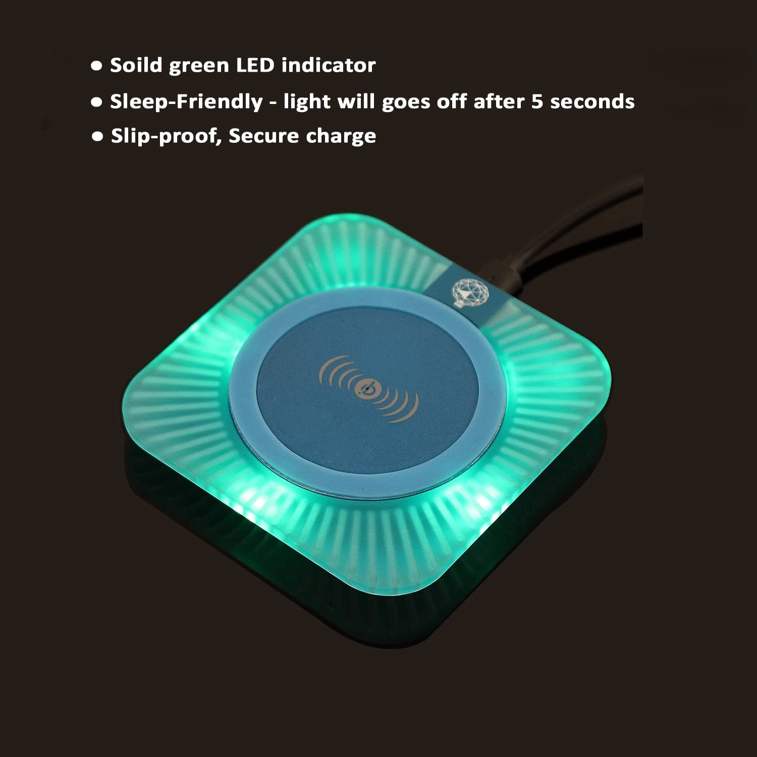 Including Sleep-Friendly Wireless Charging Pad and Qi Wireless Receiver Case Back Cover Black 2-in1 Antye Qi Wireless Charger Kit for iPhone 7 Plus,