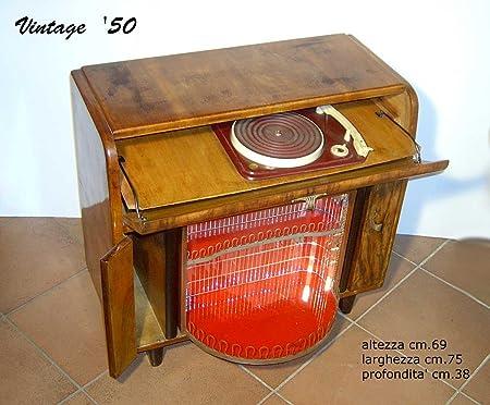 Fabris Uber Vintage Mueble Bar Tocadiscos años 50 Madera ...