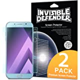 Galaxy A7 2017 Screen Protector, Invisible Defender [Full Coverage][2-Pack] Edge to Edge Curved Side Coverage Guaranteed [Case Compatible] Super Thin HD Clearness Film for Samsung Galaxy A7 2017