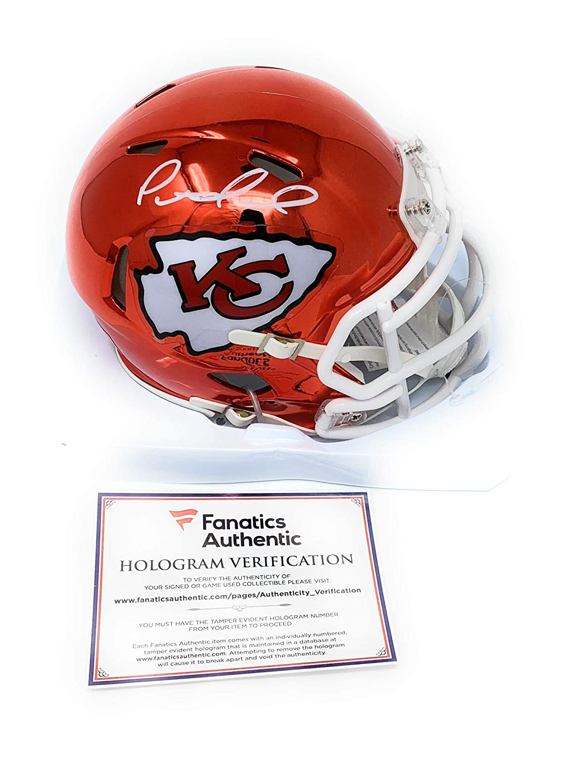 Patrick Mahomes Kansas City Chiefs Signed Autograph CHROME Speed Mini Helmet Fanatics Authentic Certified