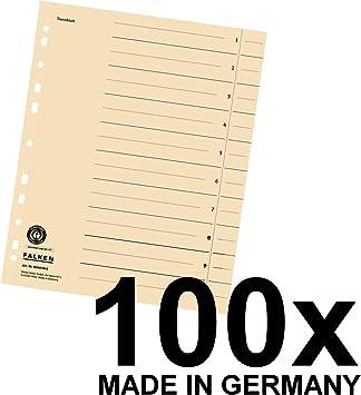 0,13€//Stück Trennblätter Herlitz 10er Pack chamois 10 Stück für DIN A4