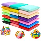 24 Colors Air Dry Clay Magical Kids Clay Ultra Light Modeling Clay Artist Studio Plasticine Toy Safe and Non-Toxic…