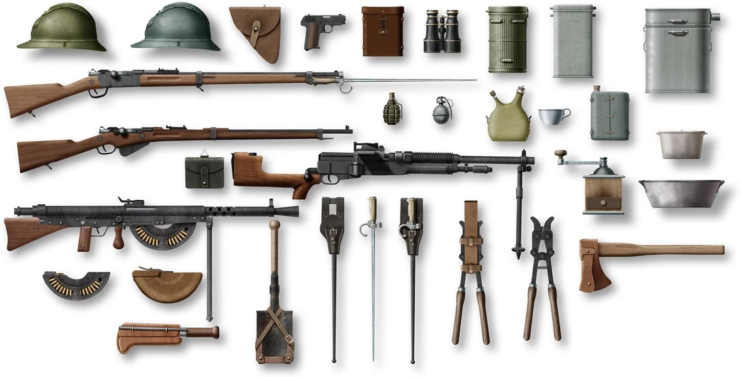 1//35 ICM WW I FRENCH INFANTRY WEAPONS /& EQUIPMENT HOTCHKISS, CHAUCHAT, LEBEL