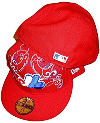 New Era Montreal Expos MLB OTT Over The Top Red 5950 Hat Cap 7 3
