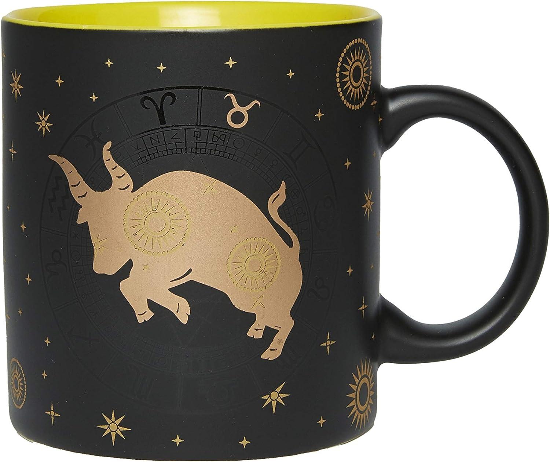 Sette Decor Taurus Zodiac Large Ceramic Mug for Coffee Tea Water 17oz (500ml)